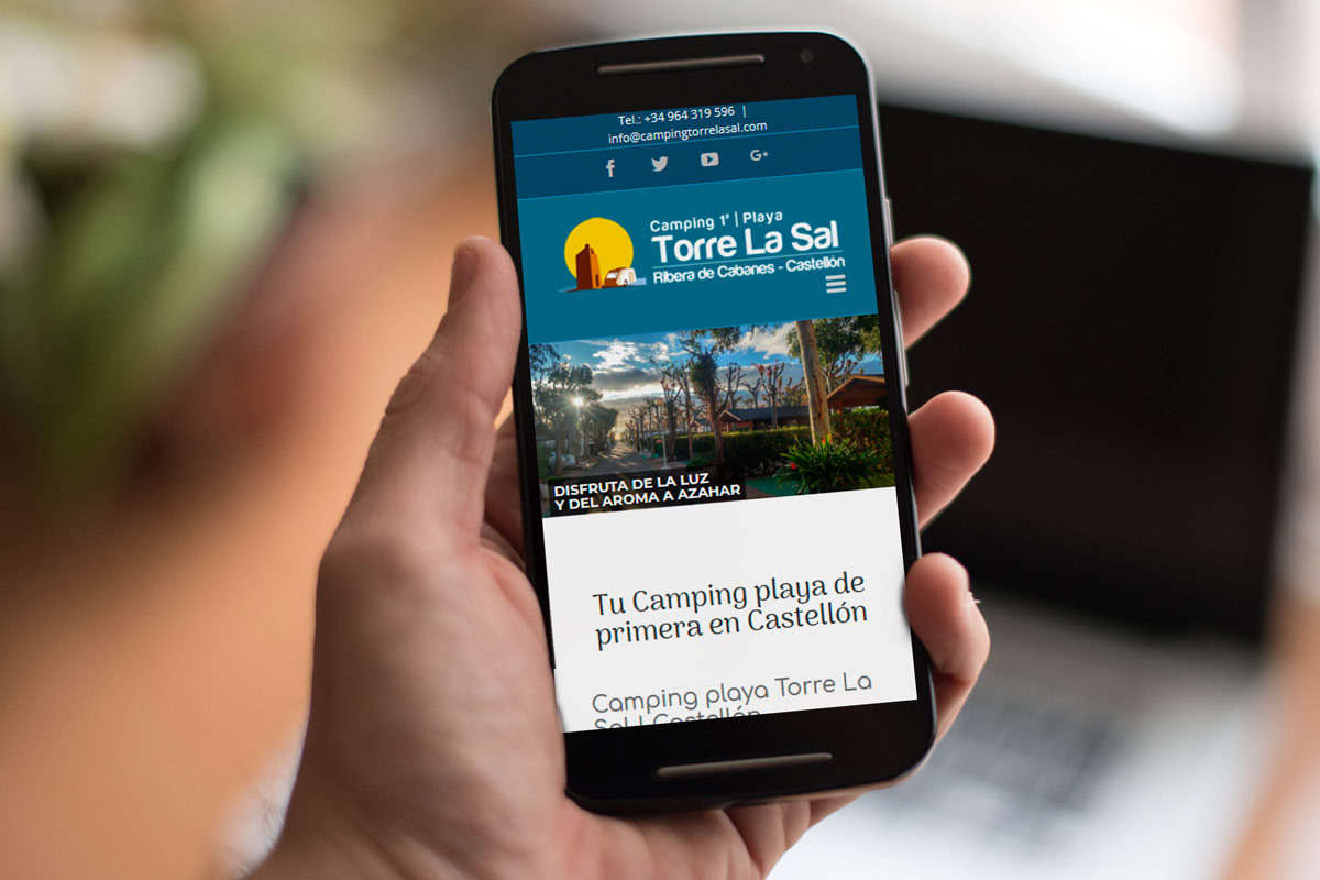 Camping Torre la Sal diseño web responsive