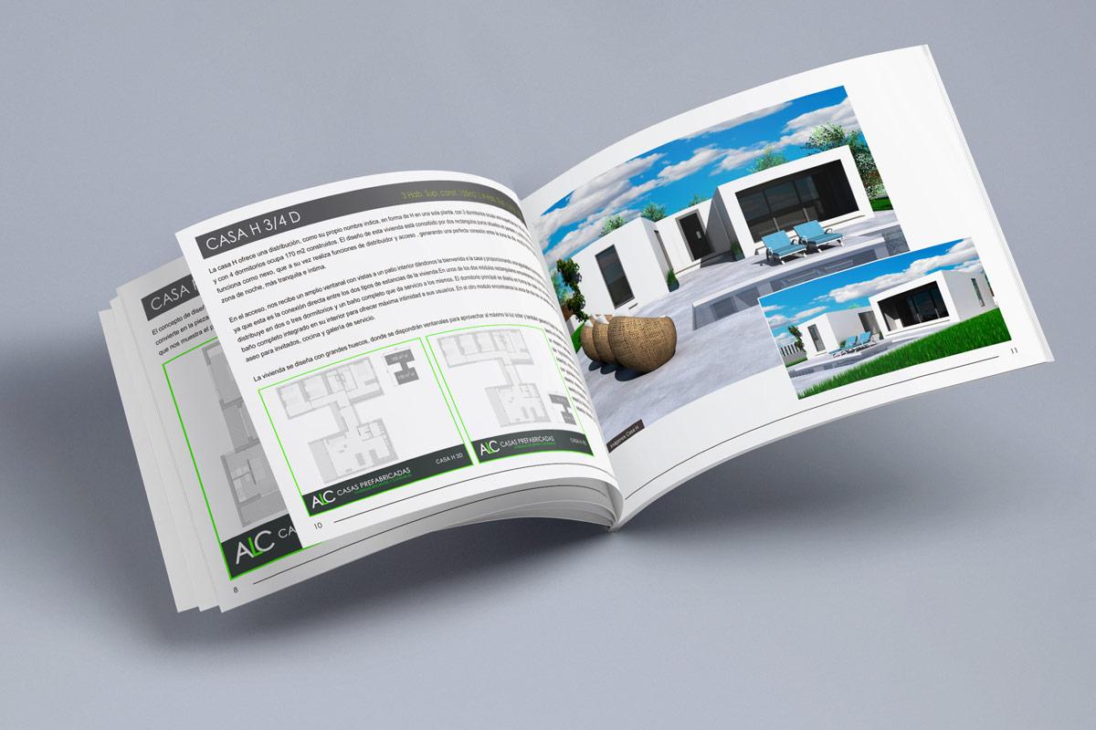 Diseño de catálogo de viviendas Construcciones ALC