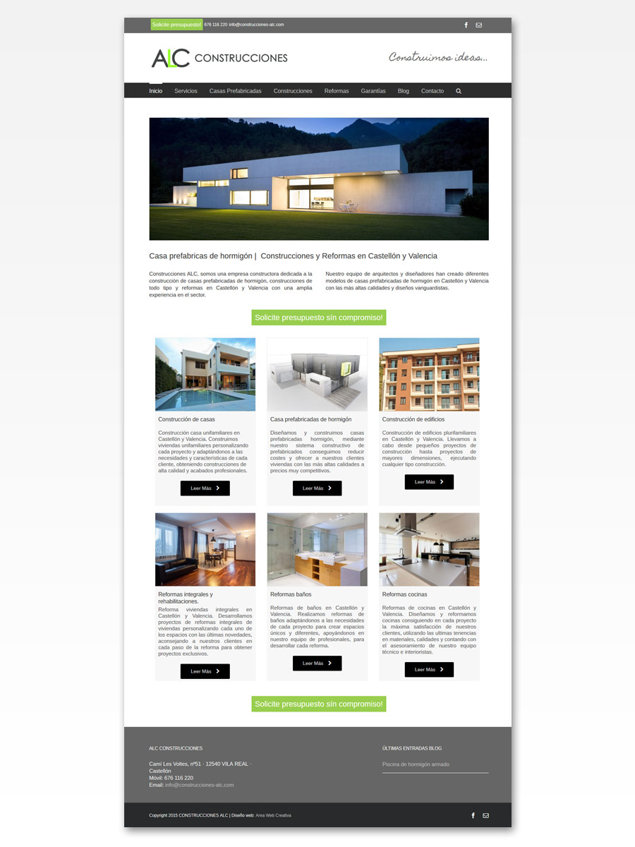 Construcciones ALC Vila-real captura home