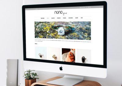 Diseño de tienda online · Nonogems