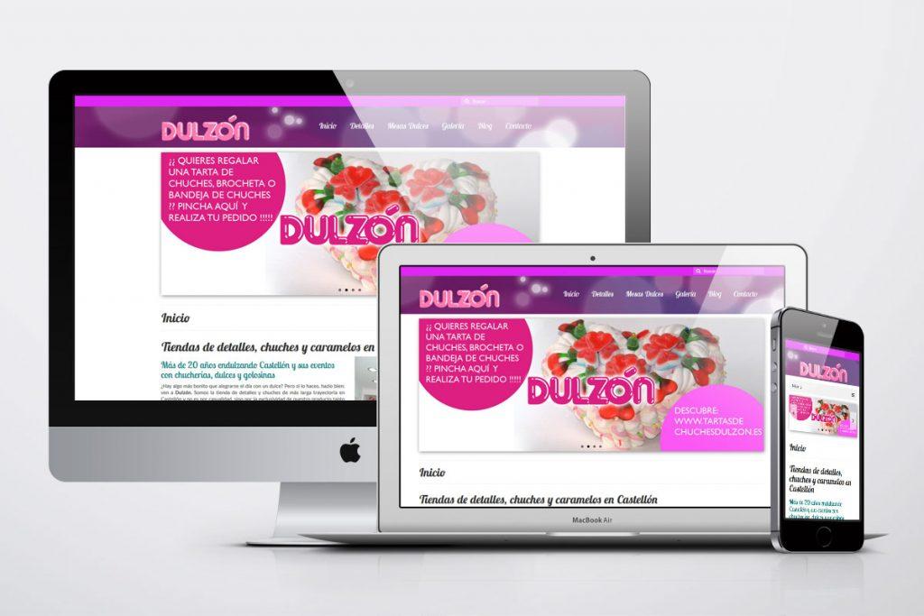 Dulzón Castellón diseño web responsive