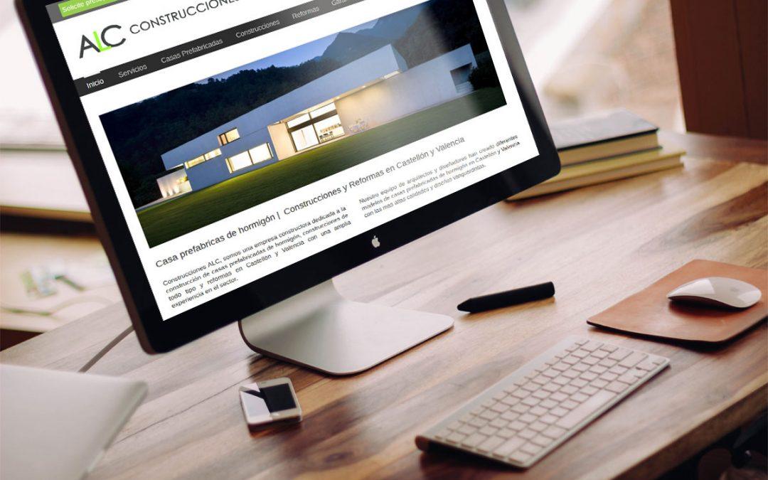 Construcciones ALC · Diseño web