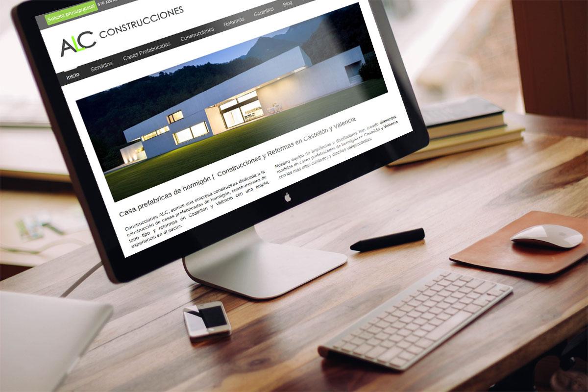 Diseño web Construcciones ALC