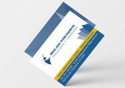 Mª José Artola Psicología | Diseño de tarjetas corporativas