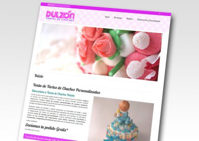 Tartas de chuches Dulzón | Diseño web con Catálogo