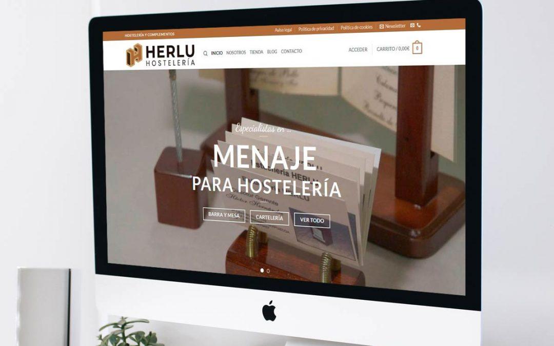 Diseño de la nueva tienda online de Herlu.